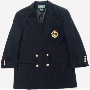Vintage Ralph Lauren Pure New Wool Crest Blazer